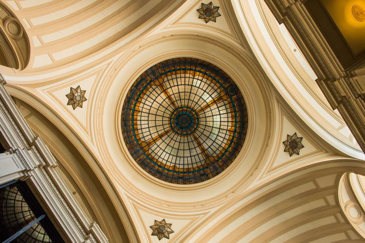 Architectural Feature Architecture Ceiling Design Geometry Low Angle View Sala São Paulo