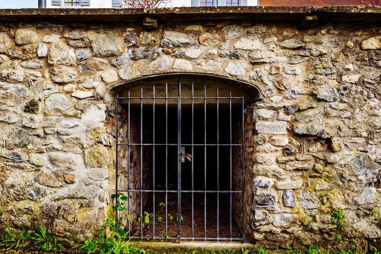 Closed Metallic Door Of An Old Building
