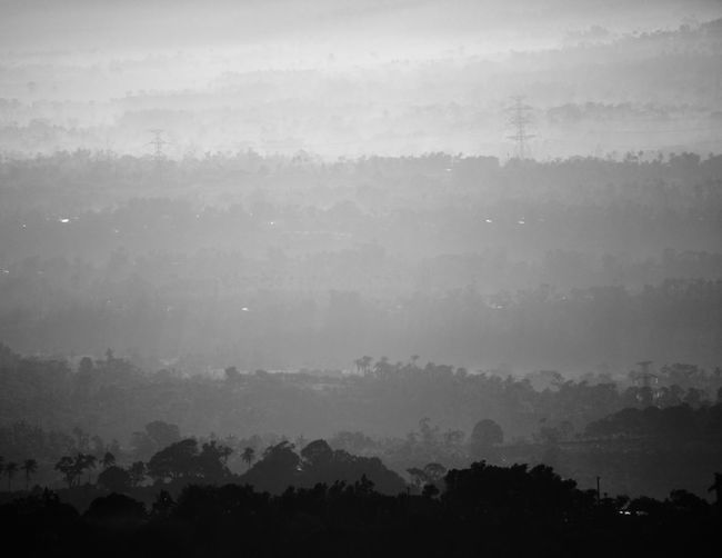 Landscape Mountain Foggy Tagaytay Silhouette Volcano Philippines Pilipinas Black And White Outline Tree Calm Countryside Alt Lens High Angle View Sunrise Cityscape Town Outdoors Available Light Travel Roadtrip Southeast Asia Canon Minolta Lens