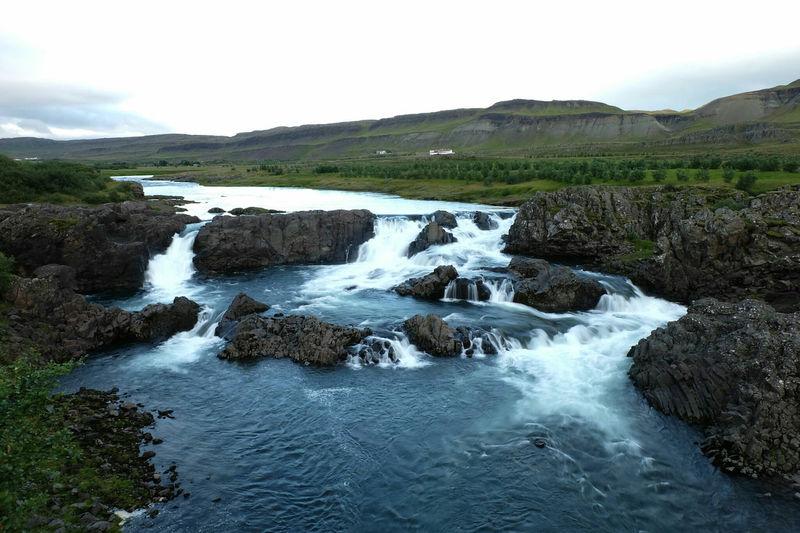 Glannifoss Glanni Falls Iceland Landscape Nature Waterfall