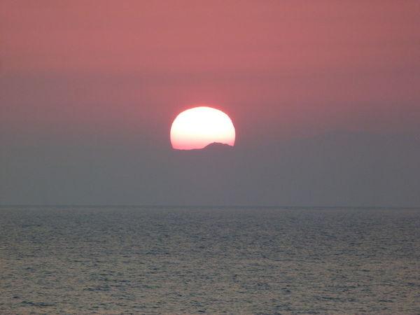Beautiful sunrise on the beach Fire Ball No People Outdoors Scenics Sea Sunrise On The Beach