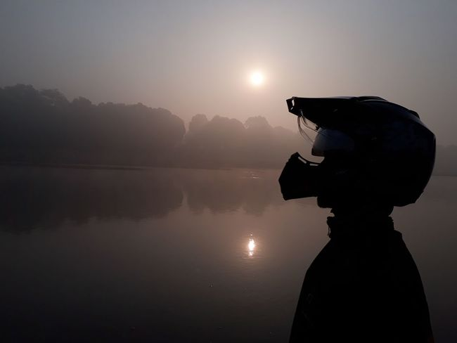 A Rider's soul. Silhouette Adults Only One Person Adult Lake Only Women People EyeEmNewHere