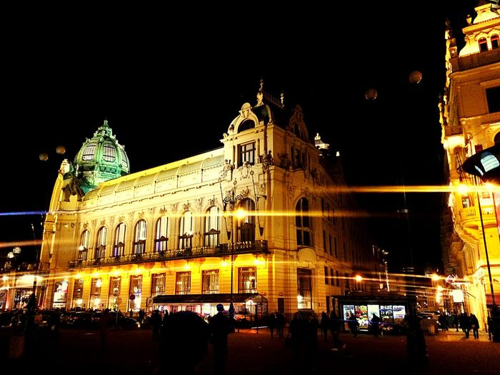 Night Night Time I'm Here near Palladium in Prague Czech Republic My Good Memory Nuple Chunsumonpics