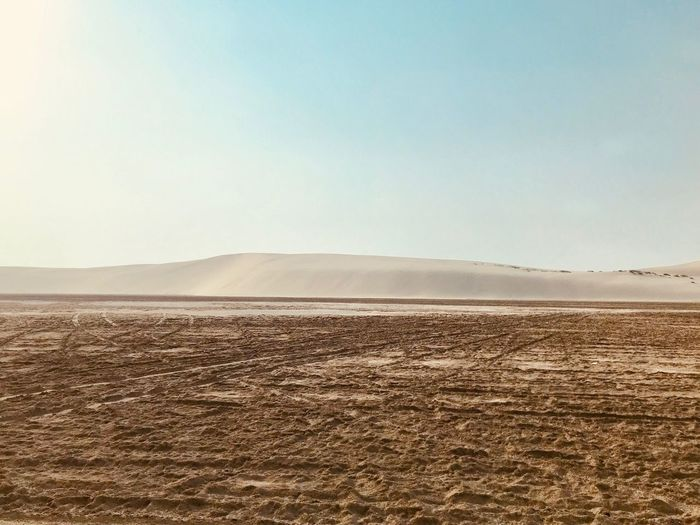 Arabian Moment Sky Land Scenics - Nature Tranquil Scene Tranquility Landscape Beauty In Nature Desert Non-urban Scene Remote Arid Climate Copy Space No People Nature Clear Sky Day Sand Environment Outdoors Idyllic