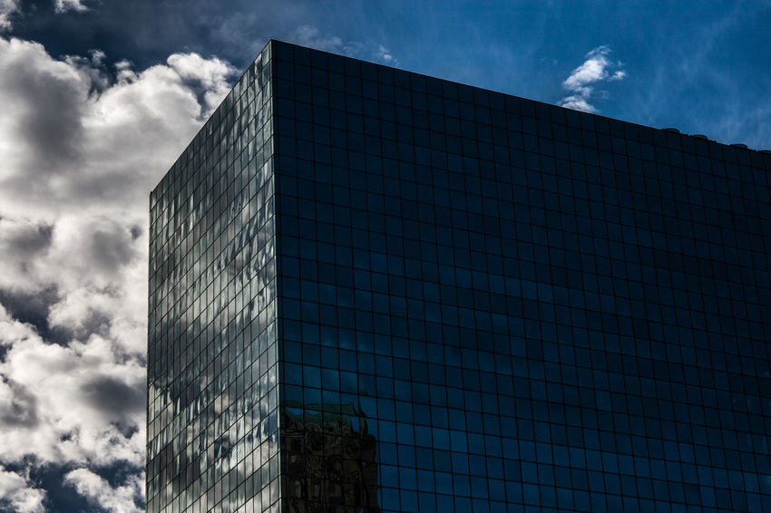 City Downtown Mirror Mirror Image Reflection St. Louis, MO Architecture Black Framed Windows Blue Blue Sky Building Exterior Built Structure City Clouds Day Glass Glass Building Low Angle View Mirror Reflection Modern No People Outdoors White Framed Windows White Outline Window The Graphic City