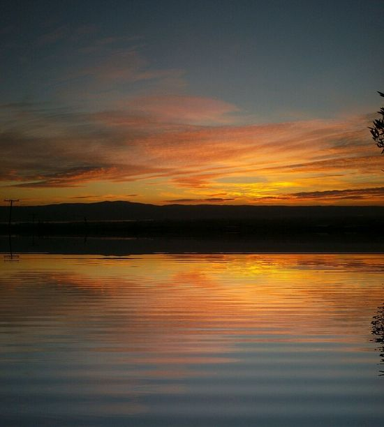 Reflection Sunset Water Nature Beauty In Nature Sky Orange Color Nature Photography Mothernature Natureporn Nature_collection Water Reflections Sunset_collection Landspace Sunrise Beautiful Sunset