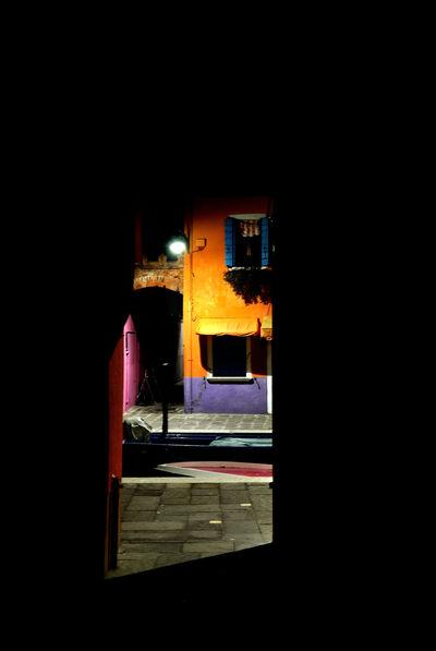 after the dark: light EyeEmNewHere Italia Nightphotography VENICE CORNERS Venezia Building Exterior Burano Contrast Island Italy Night Outdoors Window The Week On EyeEm