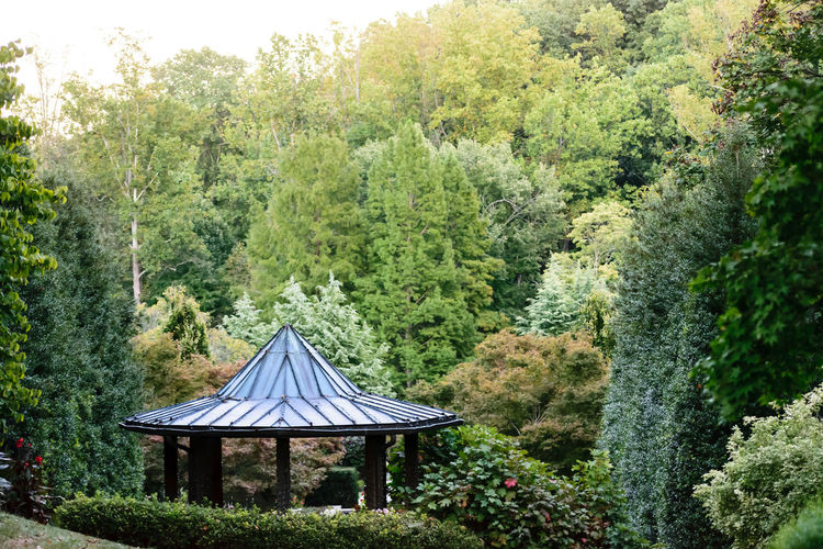 Architecture Gazebo Beauty In Nature Built Structure Day Garden Growth Hill Landscape Nature No People Outdoors Pavilion Structure Tent Tree