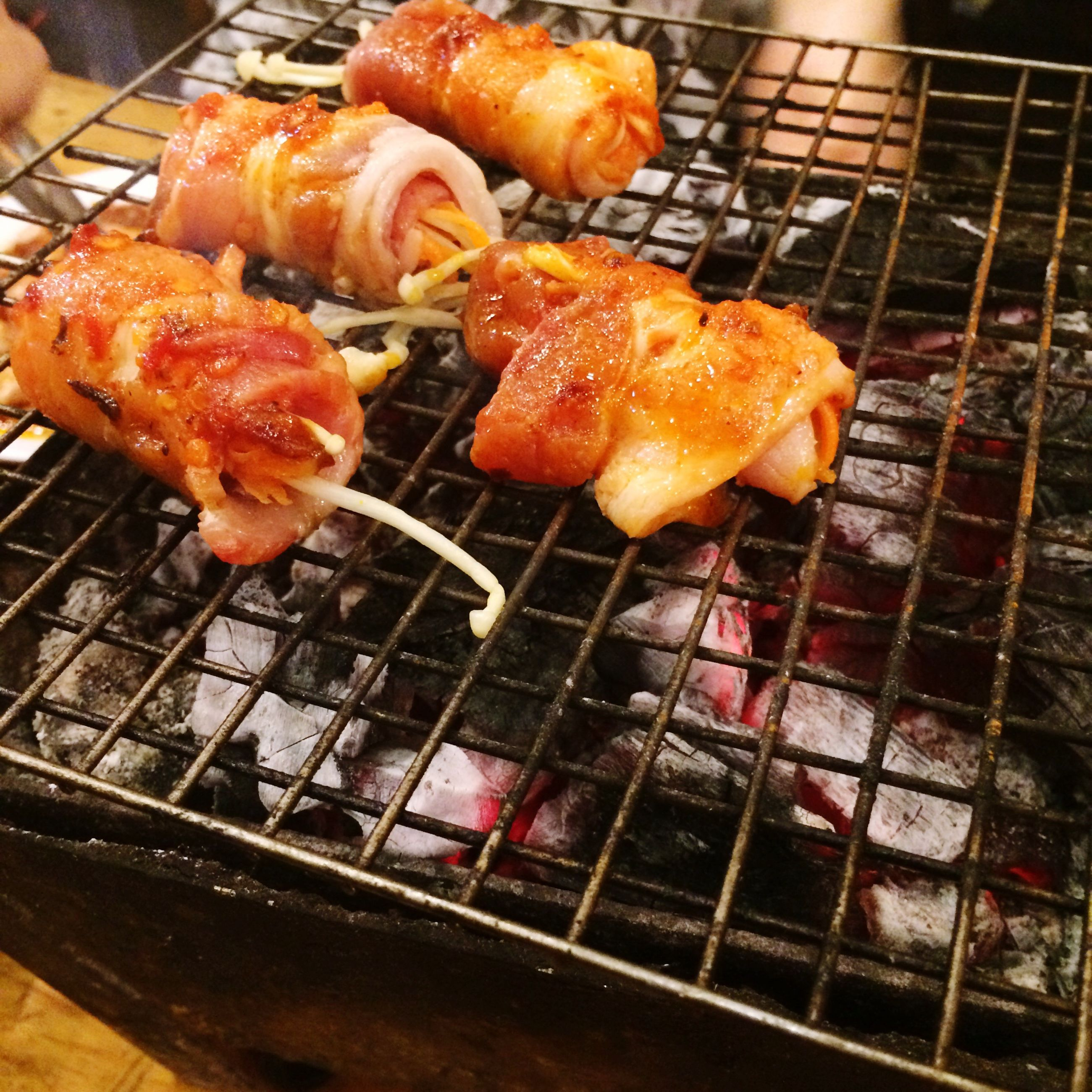 food and drink, food, freshness, barbecue grill, meat, indoors, grilled, barbecue, cooking, preparation, healthy eating, still life, preparing food, sausage, heat - temperature, close-up, roasted, grill, ready-to-eat