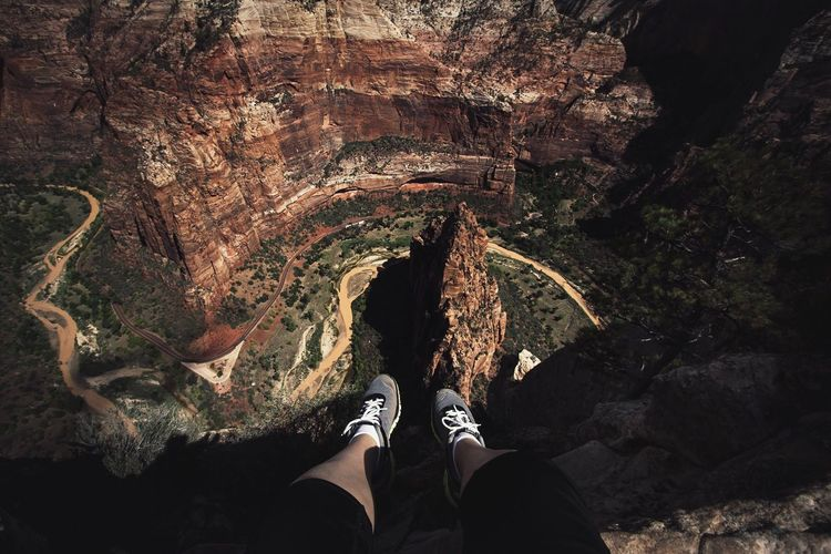 Dont look down Personal Perspective Shoe Human Leg High Angle View Nature Outdoors Beauty In Nature Zion National Park Connected By Travel Lost In The Landscape EyeEmNewHere Utah Moody Beautiful Destinations Shoeselfie Lost In The Landscape Connected By Travel EyeEmNewHere Perspectives On Nature Perspectives On Nature Go Higher Inner Power Visual Creativity The Great Outdoors - 2018 EyeEm Awards The Traveler - 2018 EyeEm Awards