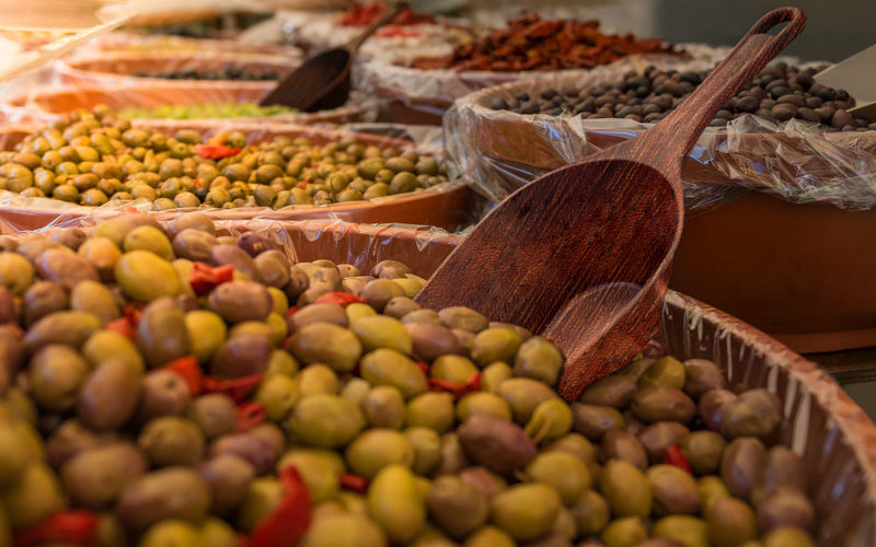 Close-up of vegetables in market stall