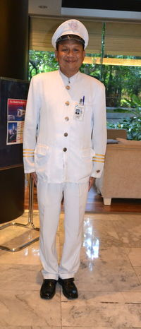 Adult Adults Only Day Doorman Front View Full Length Indoors  Looking At Camera Men One Man Only One Person One Young Man Only Only Men People Portrait Real People Standing White Cap White Color White Uniform Young Adult