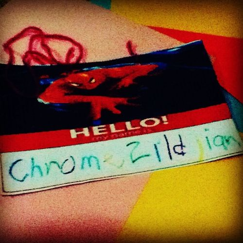 Second day of school ng sweetdude ko 😁 and their first activity was.. DIY Nameplate ✌😊❤ Chromezildjian Sanroquecathedralschool