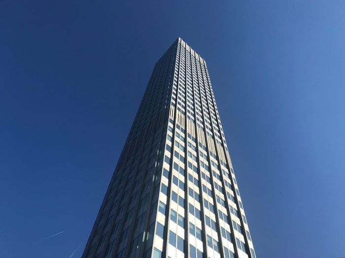 Built Structure Architecture Low Angle View Building Exterior Tall - High Sky Office Building Exterior Tower Nature Skyscraper Modern Travel Destinations No People Clear Sky Building Outdoors City Office Blue Sunlight