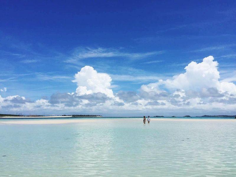 Okinawa Japan Relaxing Hello World Sky And Sea Holiday
