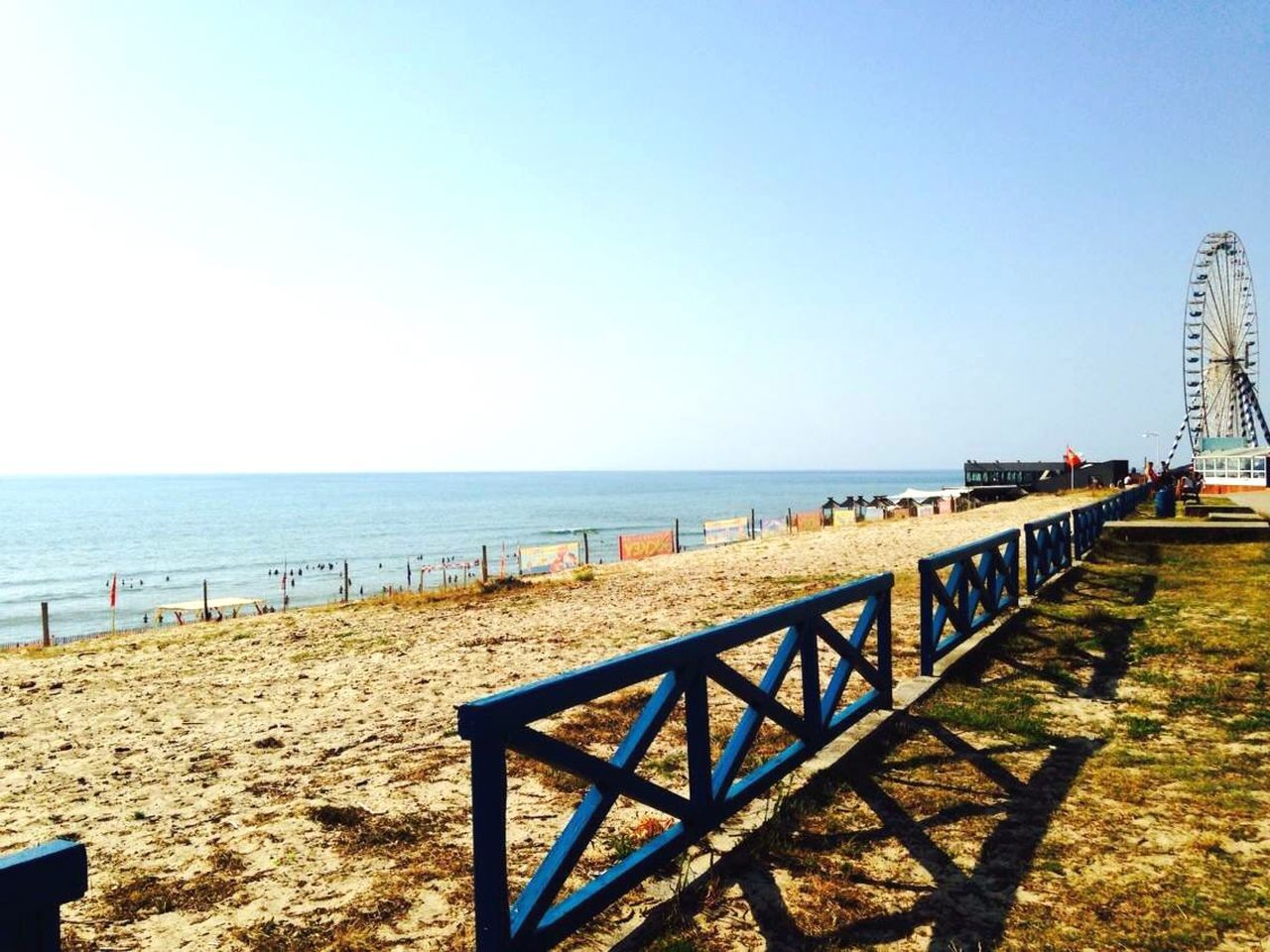 sea, beach, horizon over water, water, nature, tranquil scene, clear sky, tranquility, scenics, sunlight, day, copy space, sand, outdoors, beauty in nature, vacations, summer, sky, no people, blue, travel destinations