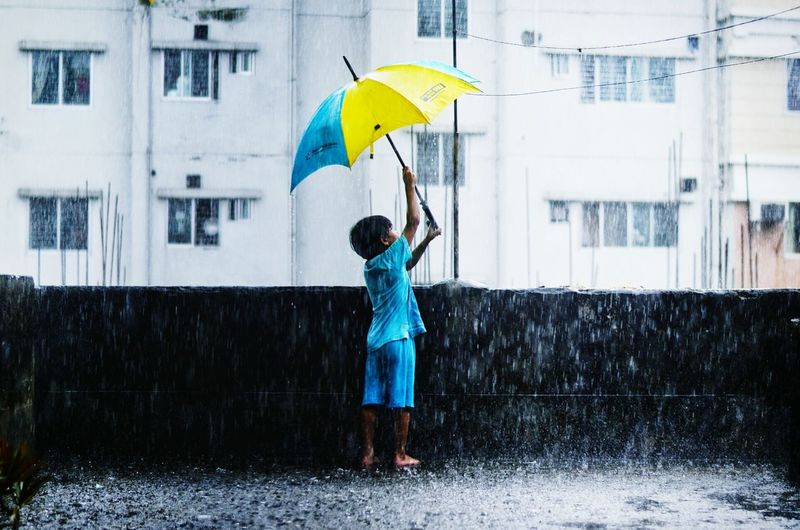 Be. Ready. Day EyeEmNewHere Water Monsoon Nature Beauty In Nature Babyboy Umbrella Revolution Umbrella Umbrella☂☂ Rainy Days Raindrops