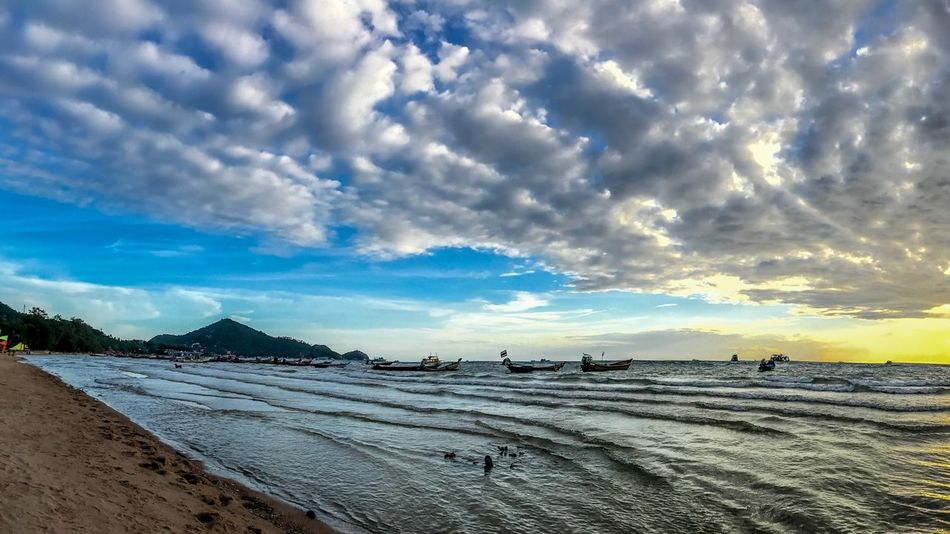 Sky Cloud - Sky Land Beach Scenics - Nature Beauty In Nature Tranquil Scene Sand Nature Sea Landscape Environment Sunlight Outdoors Salt Flat