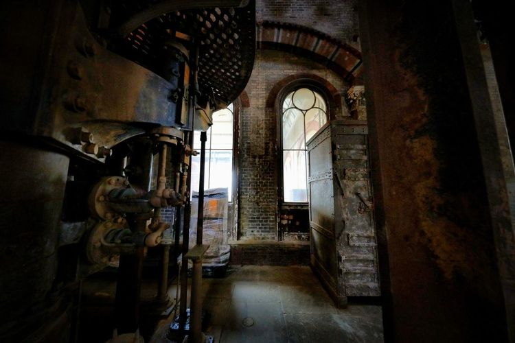 Crossness Pumping Station Architecture Indoors  Built Structure Building Abandoned Arch Old