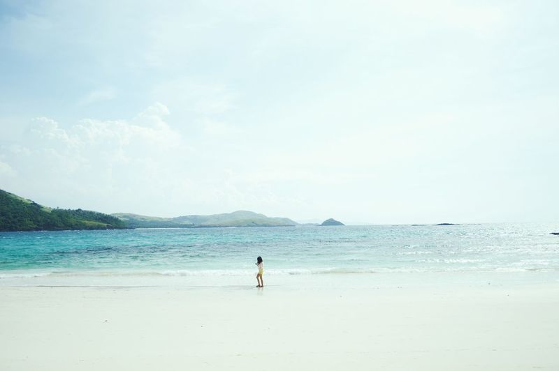 Life is short and the world is huge. 💙 Beach Sea Tranquil Scene Tranquility Calm Shore Sky Relaxation Nature Ocean Wanderlust Travel Philippines Island Traveler Traveling Explore Photography Travelphotography Photooftheday 2016 Calaguas Calaguasisland TheWeekOnEyeEM People And Places