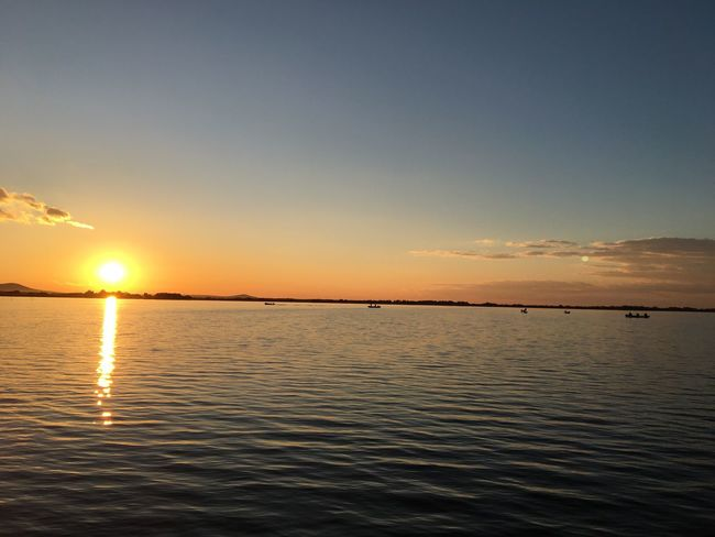 Sunset Beauty In Nature Sea Water Idyllic Orange Color Horizon Over Water IPhoneography EyeEmBestPics Iphonephotography EyeEm Best Shots 🌅 Sunset Perspectives On Nature EyeEm Gallery