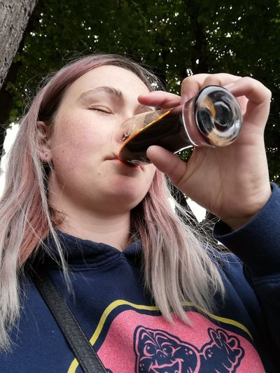 Girl with a beer Drinking Beer Drinking Beer Beerfestival Fun Happy Tasteful Taste Good Young Women Photography Themes Portrait Camera - Photographic Equipment Photographing Headshot Holding Front View Close-up
