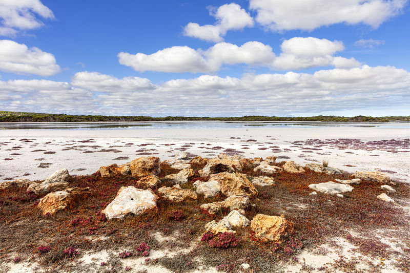 Water Cloud - Sky Sky Rock Horizon Tranquil Scene Scenics - Nature Beauty In Nature Salt Lake