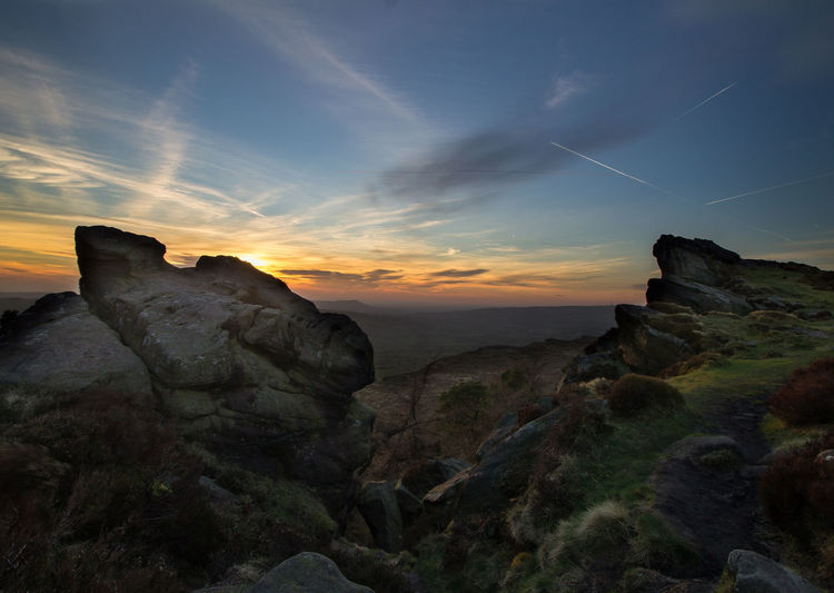 roaches Beauty In Nature Cliff Cloud - Sky Eroded Geology Idyllic Landscape Landscape_Collection Landscape_photography Leek Nature Non-urban Scene Orange Color Physical Geography Roaches Rock Rock - Object Rock Formation Rocky Scenics Sky Sunset Sunset_collection Tranquil Scene Tranquility