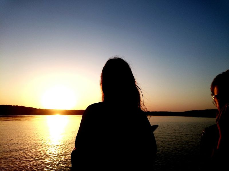 Taking Photos Relaxing Enjoying Life Setting Sun Water River Volga Sun Sunset Boat Russia People Girl