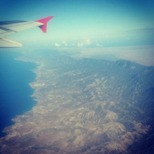 Uçaktan Kıbrıs Adasının Çekimi. Travelling