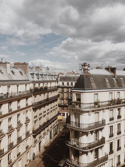 Paris Cloud - Sky Sky Architecture Built Structure Building Exterior City Building No People Apartment House Overcast Water High Angle View Residential District Day Nature Cityscape Outdoors