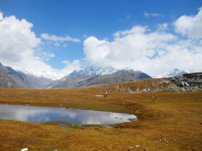 Rohtang Pass, Manali Water Mountain Snow Lake Autumn Snowcapped Mountain Reflection Sky Landscape Mountain Range Natural Landmark