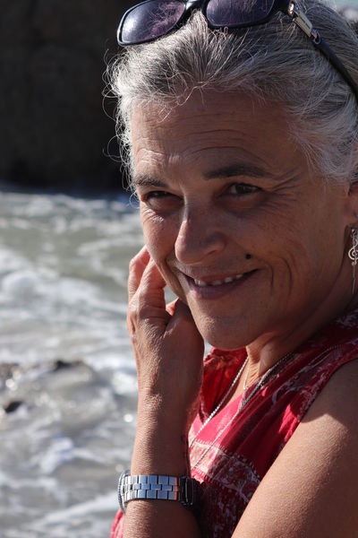 Cape Town Clifton Beach South Africa Close-up Day Happiness Leisure Activity Lifestyles Looking At Camera Mature Adult Mature Women One Person Outdoors People Portrait Real People Senior Adult Smiling Sunglasses Water This Is Aging