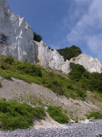 Mons Klint, Denmark Beauty In Nature Cliff Day Geology Idyllic Landscape Mountain Møns Klint Nature No People Non Urban Scene Non-urban Scene Outdoors Physical Geography Coastline Landscape Coastline Rock Rock - Object Rock Formation Rocky Mountains Scenics Sky Stone Tranquil Scene Tranquility