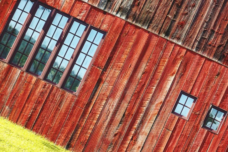 Vermont Barn Window Red Wood Urban Geometry Red Woodporn Old Wood