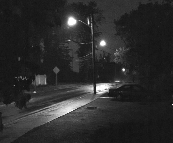 black and white my street at night Taking Photos Check This Out