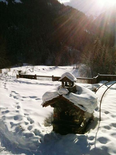 Snow Winter Beauty In Nature No People Sunrays Sunray Of Light house snow France Aples Chalet