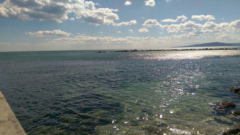 Sea Seasky Cool Beautifull Beachphotography Blue Water Blue Sky Water Reflections Water PhonePhotography