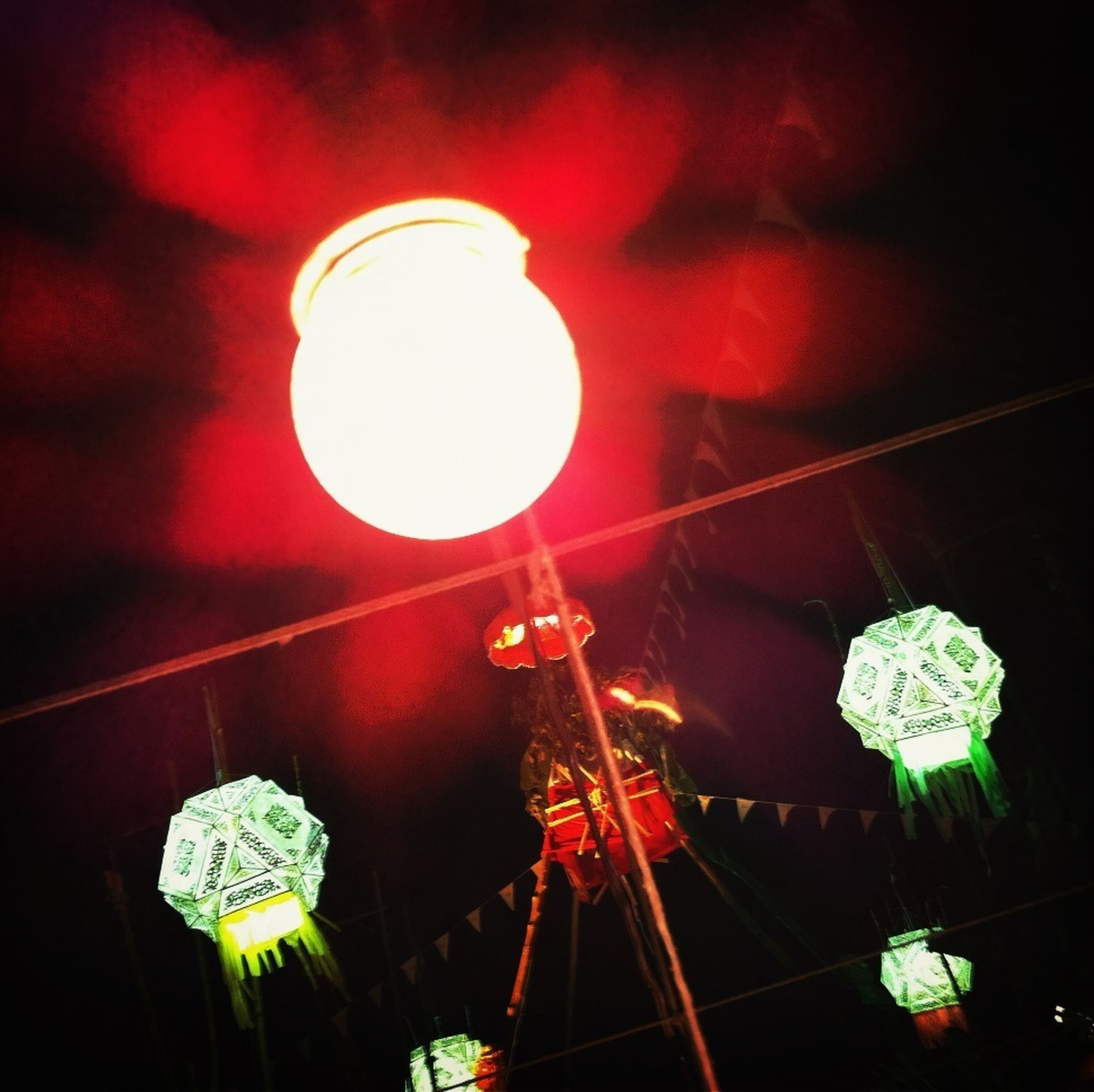 illuminated, night, lighting equipment, low angle view, celebration, decoration, hanging, electricity, electric light, glowing, red, arts culture and entertainment, tradition, light - natural phenomenon, christmas, christmas lights, christmas decoration, lit, lantern, decor