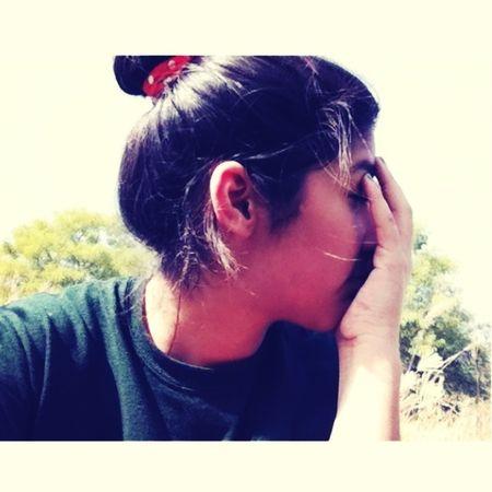 Hair in a bun. :)