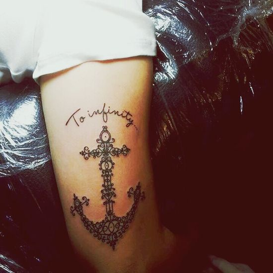 Anchor ♡ Tattoo Coupletattoo To Infinity And Beyond <3 My anchor <3