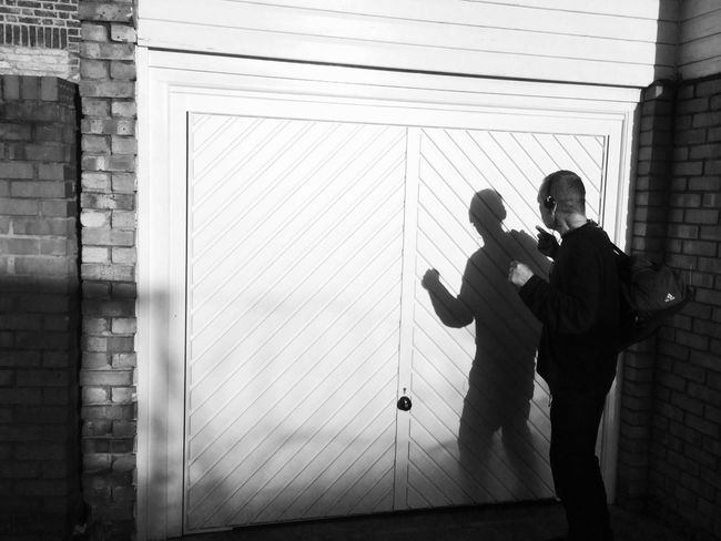 He started a fight with his own shadow The Street Photographer - 2016 EyeEm Awards