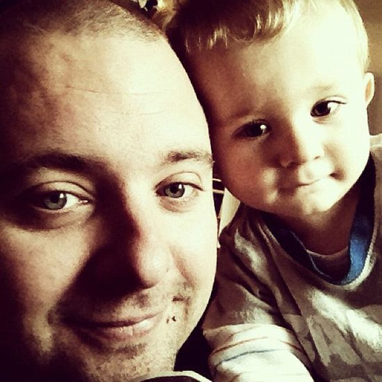 Father and son IPhone4s Iphonography Selfpicture Selfprotrait kids children