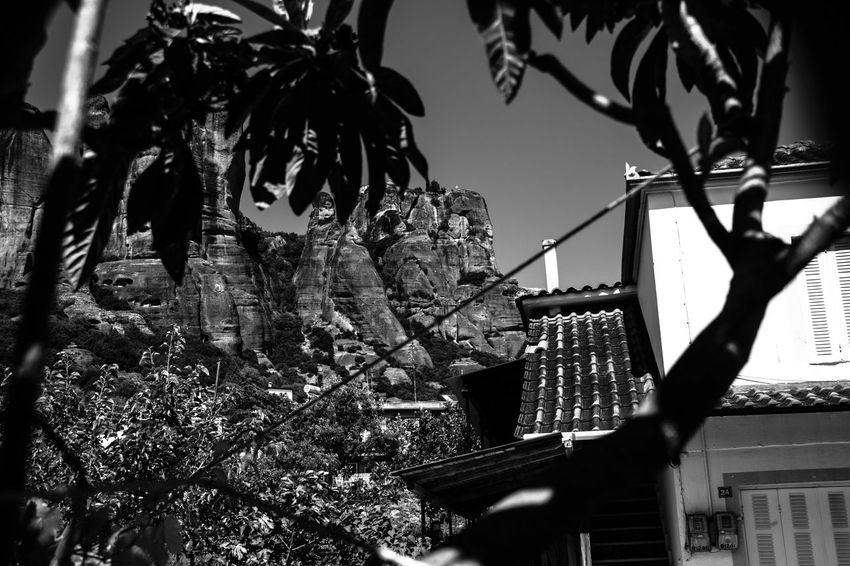 Meteora Built Structure Trees Beauty In Nature Day Black And White PhotographyIsMyPassion Live For The Story Blackandwhite Photography Black White House Streetphotography Photography Moment  Photooftheday Photoeveryday Photographyislifee Photoeverywhere Photography Summer EyeEmNewHere Place Of Heart The Street Photographer - 2017 EyeEm Awards The Great Outdoors - 2017 EyeEm Awards The Architect - 2017 EyeEm Awards Your Ticket To Europe