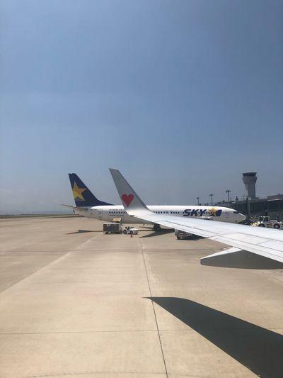 グッビュー( ^_^)/~~~☆ Skymark Airlines Skymark Air Vehicle Airplane Transportation Mode Of Transportation Sky Airport Nature