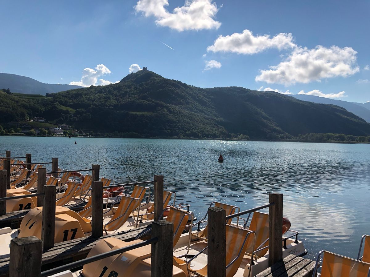 Another one. I like this lake so much😍 Kalterer See Südtirol Alto Adige South Tyrol Italia Italien Italy Mountain Water Sky Cloud - Sky Beauty In Nature Scenics - Nature Nature Mountain Range Lake Day Tranquility Tranquil Scene Tree Nautical Vessel Mode Of Transportation No People Non-urban Scene Transportation Sunlight Outdoors