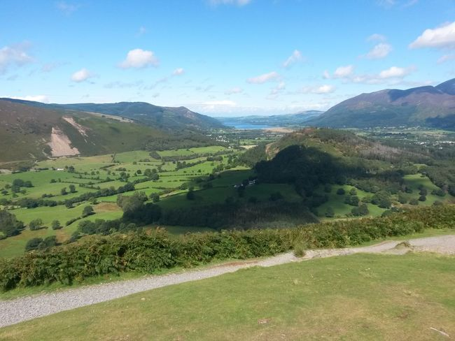 Landscape Nature Mountain Green Color Beauty In Nature Scenics Tranquil Scene Rural Scene Sky Lush - Description Outdoors No People Cloud - Sky Clouds The Lake District  Sunny Day Blue Sky, White Clouds Tranquility