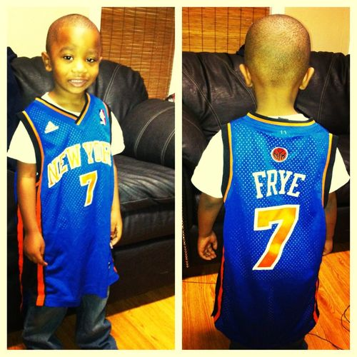 My Lil Nephew & His New York Knicks Jersey