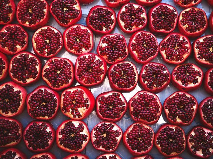 Pomegrant for sale in market
