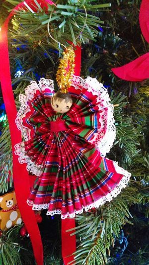 Doll ornament Doll Ornament Doll Christmas Decorations Christmas Time Plaid Hanging On The Tree Handmade Showcase: December